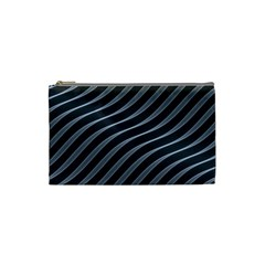Metal Steel Stripped Creative Cosmetic Bag (small)  by Nexatart