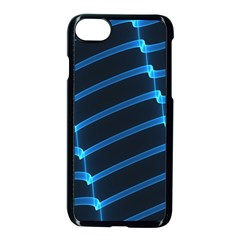 Background Neon Light Glow Blue Apple Iphone 8 Seamless Case (black) by Nexatart