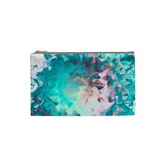Background Art Abstract Watercolor Cosmetic Bag (small)  by Nexatart