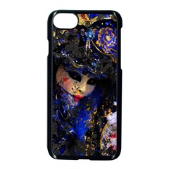 Mask Carnaval Woman Art Abstract Apple Iphone 8 Seamless Case (black) by Nexatart