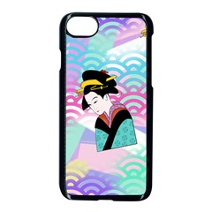 Japanese Abstract Apple Iphone 8 Seamless Case (black) by snowwhitegirl