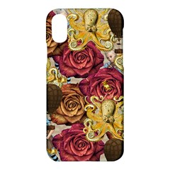 Octopus Floral Apple Iphone X Hardshell Case by snowwhitegirl