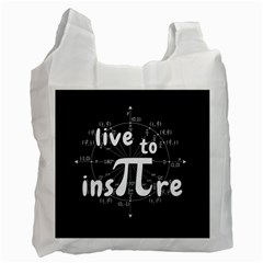 Pi Day Recycle Bag (one Side) by Valentinaart