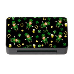 St Patricks Day Pattern Memory Card Reader With Cf by Valentinaart
