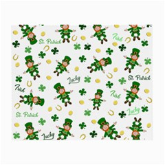 St Patricks Day Pattern Small Glasses Cloth (2 Side) by Valentinaart