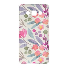 Purple And Pink Cute Floral Pattern Samsung Galaxy A5 Hardshell Case
