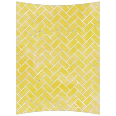 Brick2 White Marble & Yellow Watercolor Back Support Cushion by trendistuff