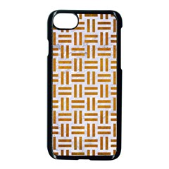 Woven1 White Marble & Yellow Grunge (r) Apple Iphone 8 Seamless Case (black) by trendistuff