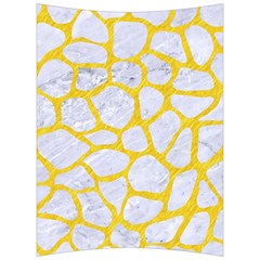 Skin1 White Marble & Yellow Colored Pencil Back Support Cushion by trendistuff