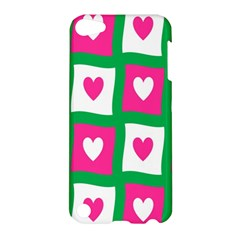 Pink Hearts Valentine Love Checks Apple Ipod Touch 5 Hardshell Case by Nexatart
