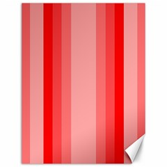 Red Monochrome Vertical Stripes Canvas 12  X 16   by Nexatart
