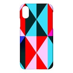 Geometric Pattern Design Angles Apple Iphone X Hardshell Case by Nexatart
