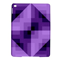Purple Geometric Cotton Fabric Ipad Air 2 Hardshell Cases by Nexatart