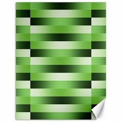 Pinstripes Green Shapes Shades Canvas 18  X 24