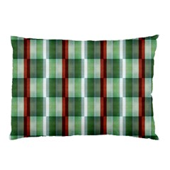 Fabric Textile Texture Green White Pillow Case (two Sides) by Nexatart