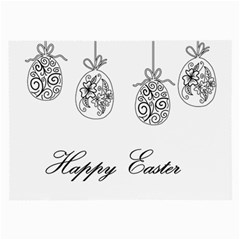 Easter Eggs Large Glasses Cloth (2 Side) by Valentinaart