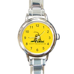 Gadsden Flag Don t Tread On Me Round Italian Charm Watch by gooomega