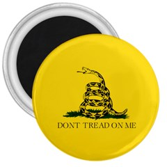 Gadsden Flag Don t Tread On Me 3  Magnets by gooomega