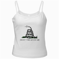 Gadsden Flag Don t Tread On Me White Spaghetti Tank by MAGA