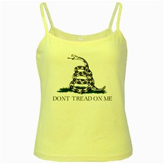 Gadsden Flag Don t Tread On Me Yellow Spaghetti Tank by MAGA