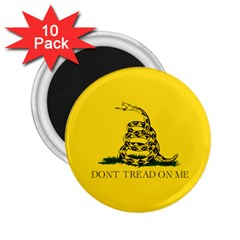 Gadsden Flag Don t Tread On Me 2 25  Magnets (10 Pack)  by MAGA