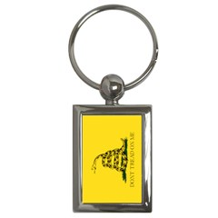 Gadsden Flag Don t Tread On Me Key Chains (rectangle)  by MAGA