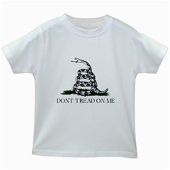 Gadsden Flag Don t Tread On Me Kids White T Shirts by MAGA