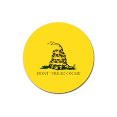 Gadsden Flag Don t Tread On Me Magnet 3  (round) by gooomega