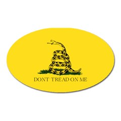 Gadsden Flag Don t Tread On Me Oval Magnet by gooomega