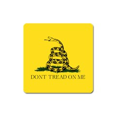 Gadsden Flag Don t Tread On Me Square Magnet by gooomega