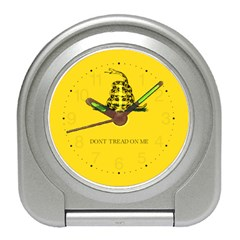 Gadsden Flag Don t Tread On Me Travel Alarm Clocks by MAGA