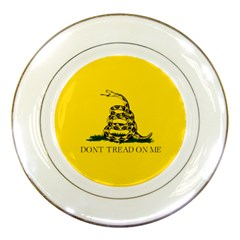 Gadsden Flag Don t Tread On Me Porcelain Plates by MAGA