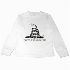 Gadsden Flag Don t Tread On Me Kids Long Sleeve T Shirts by MAGA