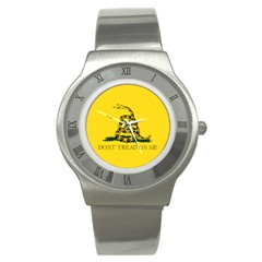 Gadsden Flag Don t Tread On Me Stainless Steel Watch by gooomega