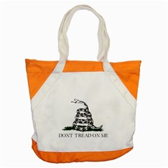 Gadsden Flag Don t Tread On Me Accent Tote Bag by MAGA