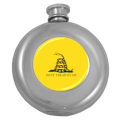 Gadsden Flag Don t Tread On Me Round Hip Flask (5 Oz) by MAGA