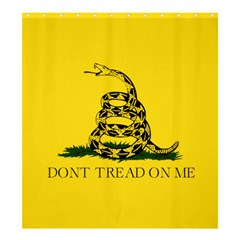 Gadsden Flag Don t Tread On Me Shower Curtain 66  X 72  (large)  by MAGA