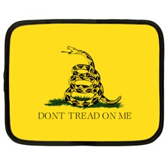Gadsden Flag Don t Tread On Me Netbook Case (xl)  by MAGA