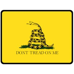 Gadsden Flag Don t Tread On Me Fleece Blanket (large)  by MAGA