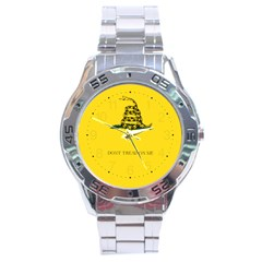 Gadsden Flag Don t Tread On Me Stainless Steel Analogue Watch by gooomega