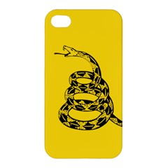 Gadsden Flag Don t Tread On Me Apple Iphone 4/4s Premium Hardshell Case by MAGA