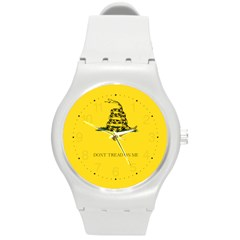 Gadsden Flag Don t Tread On Me Round Plastic Sport Watch (m) by MAGA