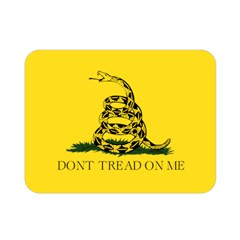 Gadsden Flag Don t Tread On Me Double Sided Flano Blanket (mini)  by MAGA