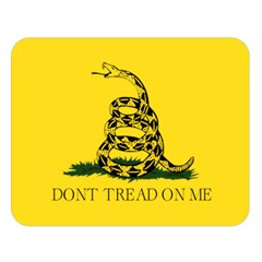 Gadsden Flag Don t Tread On Me Double Sided Flano Blanket (large)  by MAGA