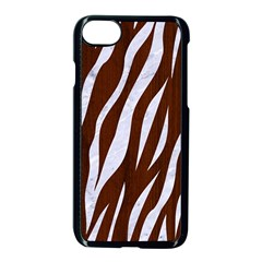 Skin3 White Marble & Reddish Brown Wood Apple Iphone 8 Seamless Case (black) by trendistuff
