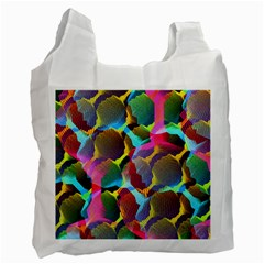 3d Pattern Mix Recycle Bag (one Side) by Sapixe