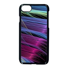 Abstract Satin Apple Iphone 8 Seamless Case (black) by Sapixe