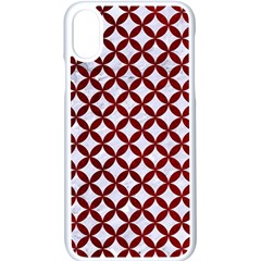 Circles3 White Marble & Red Grunge (r) Apple Iphone X Seamless Case (white) by trendistuff
