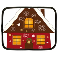 Christmas House Clipart Netbook Case (xl)  by Sapixe