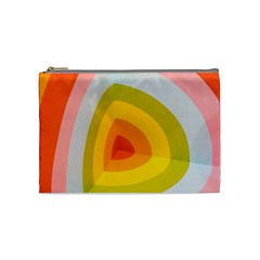 Graffiti Orange Lime Power Blue And Pink Spherical Abstract Retro Pop Art Design Cosmetic Bag (medium)